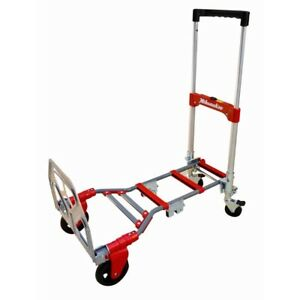 Milwaukee Convertible Hand Truck Cart 2 In 1 Horizontal Vertical Foldable Dolly