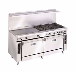 Imperial 60 Electric Range 6 Solid Burners 24 Griddle Double Oven Restaurant