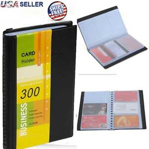 Leather Business Cards Holder Case Organizer 300 Name Id Credit Card Book Keeper