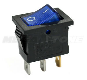 Spst Kcd1 Mini Rocker Switch W illuminated Blue Lamp On off 6a 250vac Usa Seller