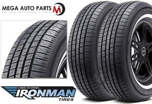 2 New Ironman Rb 12 Nws 205 70r15 96s White Wall All Season Performance Tires