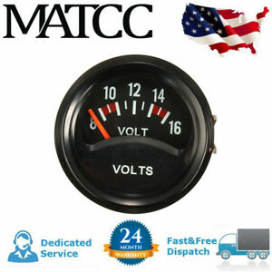 52mm 2 Car Truck Mechanical Volt Voltmeter Voltage Meter Gauge 8 16v Black 12v