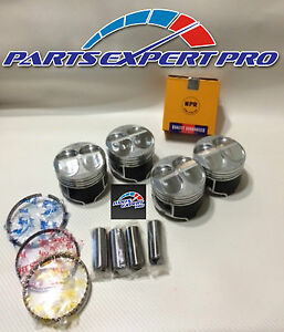Ycp 82mm High Compression Pistons Rings Acura Integra Civic Si Type R B16 B18