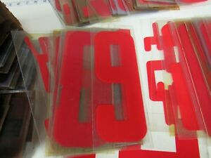 Lot 200 9 Black Red Letters Numbers Symbols Indoor outdoor Sign Board 2795c