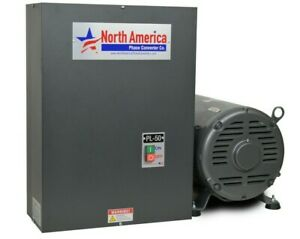 Pl 50 Pro line 50hp Rotary Phase Converter Built in Starter Free Shipping
