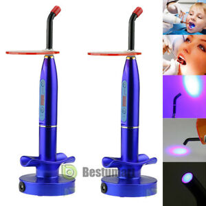 2x Dentist Dental Led Curing Light Lamp Wireless Cordless Resin Cure 10w 2000mw
