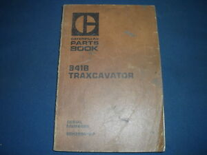 Cat Caterpillar 941b Track Loader Traxcavator Parts Book Manual S n 80h3884 up
