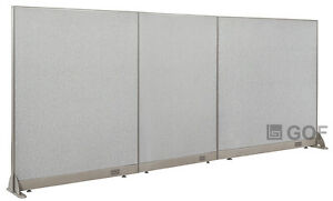 Gof Office Freestanding Partition 126 w X 60 h Office Divider