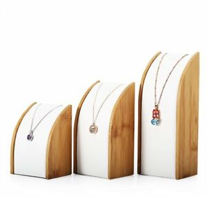 Fine Jewelry Exhibition Display Stand Bamboo Holder Necklace Pendant Store Trade