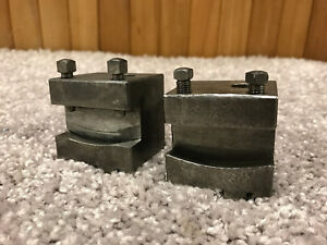 2 Hardinge Style Wedge Type Second Op Lathe Tool Holders Chucker Lathe