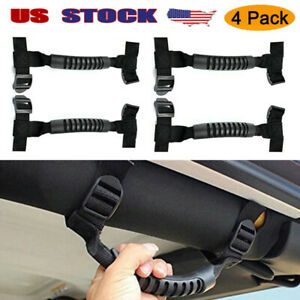 Fits Jeep Wrangler Tj Jk Black Roll Bar Grab Handles 4x4 Wd Off Road Accessories