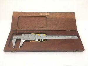 Starrett 8 200mm Vernier Caliper Model 123 With Case