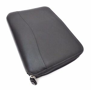 Rare Franklin Covey Leather Organizer Planner 6 Ring Black Notebook Binder
