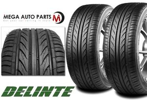 2 X New Delinte Thunder D7 255 35zr18 94w Ultra High Performance Tires 255 35 18