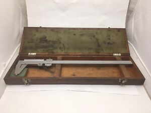 Mitutoyo Vernier Caliper 0 12in 1 100in Stainless Hardened With Original Case