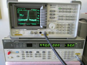 Hp 8341b Signal Generator 10mhz 20ghz Synthesized Sweep 10dbm Output Power