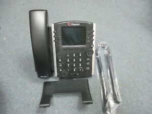 Polycom 2201 46168 001 Vvx 410 Voip Ip Color Display Telephone W Stand y