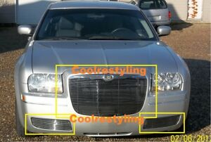 For 2005 06 07 08 09 10 Chrysler 300 Billet Grille Grill Combo Insert