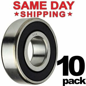 608 2rs Ball Bearing 8x22x7 Two Rubber Sealed Chrome Skateboard 608rs 10 Qty