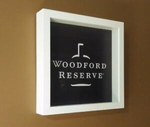 Woodford Reserve Display Wooden Shadow Box W Glass Cover10 x10 x2