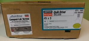 Simpson Quick Drive Dclg3s Gray Composi lok Quick Guard Coated 9 X 3 Qty 1000