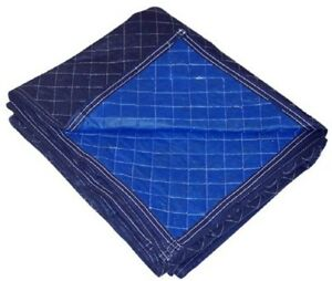 Blue Moving Blankets Soft Comfortable Body Protect Warmer Non Woven Four Pad New