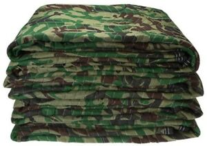 Camo Moving Blankets Pads Comfortable Soft Protect Body Warmer Durable Two New