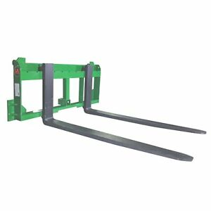 Ua Made In The Usa 48 Pallet Fork With 2 Trailer Receiver Hitch Fit John Deere