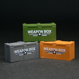 Military Weapon Box Gun Storage Ammo Container For Lego Army Minifigure