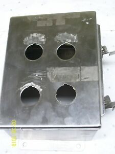 Hoffman Stainless Steel Enclosure A 8064chnfss missing Back Plate