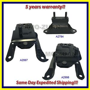Fits 95 Ford Mustang 3 8l Motor Trans Mount Set 3pcs A2998 A2997 A2784