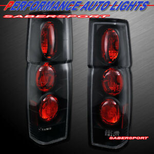 Set Of Pair Black Altezza Style Taillights For 1986 1997 Nissan Hardbody Pickup