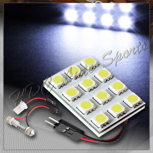 Universal T10 Festoon 12 Smd Led Interior Dome Map Light Bulb Panel White