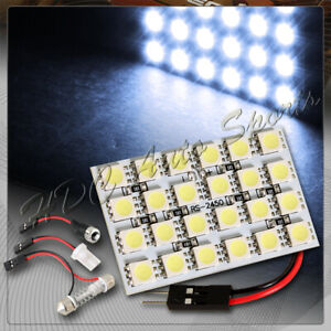 47mm X 30mm 24 Smd Led Panel Interior Dome Map Light W T10 Festoon Ba9s White
