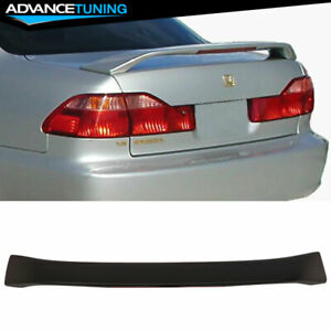 Fits 98 02 Honda Accord 4dr Oe Factory Style W 3rd Brake Led Abs Trunk Spoiler