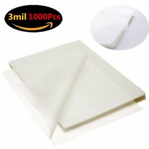 1000 Sheet 9 X 11 5 Clear Letter Size Universal Thermal Laminating Pouches 3 Mil