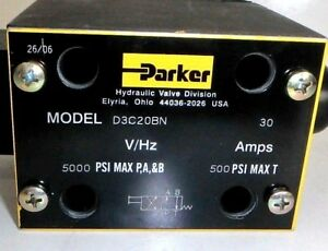 Parker Valve Hydraulic Directional Control 40gpm 5000psi d3c20bn