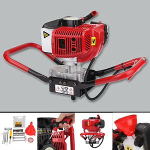52cc Gas Power Earth Post Hole Planting Auger Digger Machine W Ce