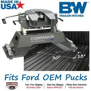 Rvk3300 B W Companion 5th Fifth Wheel Rv Trailer Hitch For Ford Oem Pucks