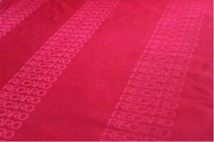 2x1 6m Red Recaro Fabric Racing Car Seats Cloth Interior Decoration Material Jdm