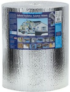 Insulation Roll 100 X 2 Ft 24 Double Reflective Radiant Barrier W Staple Tab
