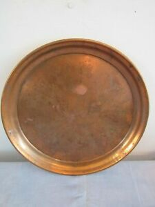 Solid Copper Round Serving Tray 14 5 Bar Man Cave