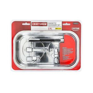 Craftsman 5 Piece Magnetic Ratchet And Socket Accessory Kit W Magnetic Tray