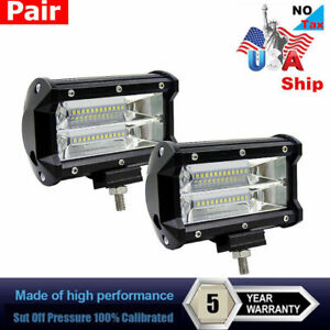 672w 5 Cree Led Combo Work Light Spotlight Off Road Driving Fog Lamp Truck Boat