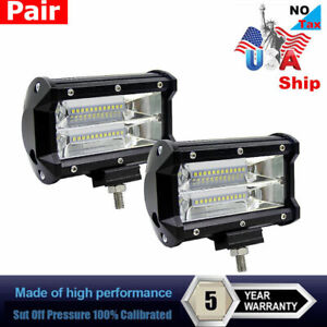 672w 5inch Led Combo Work Light Spotlight Off Road Driving Fog Lamp Truck Boat