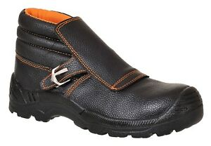 Welders Safety Work Boots Shoes Toe Cap Leather Flap Welding 5 13 Portwest Fw07