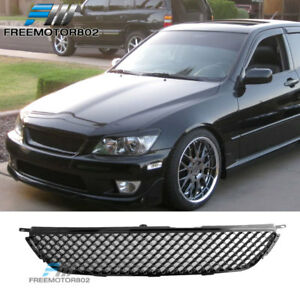 Fit 01 05 Lexus Is300 Front Bumper Upper Grille Grill Hood Mesh Abs Black