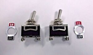 Special Offer 2 Bbt Brand On off 10 Amp 12 Volt Vintage Type Toggle Switches