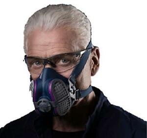 Half Face Mask Respirator Large Pain Dust Gas Chemical Welding Respirators New