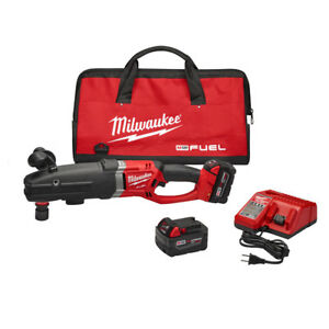 Milwaukee 2711 22 M18 Fuel Super Hawg Right Angle Drill Kit With Quik lok